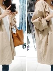 1区韩国代购正品验证dailylook-LKCT00755769-简约纯色百搭大衣-米色