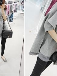 1区韩国代购正品验证dailylook-LKKN00755756-简约纯色宽松针织衫-深灰色