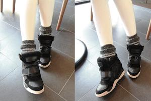 1区韩国本土服装代购(韩国圆通直发)dailylook-时尚休闲坡跟运动鞋(2018-04-14上架)