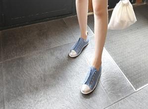 1区韩国本土服装代购(韩国圆通直发)dailylook-粗花呢帆布运动鞋(2018-04-14上架)
