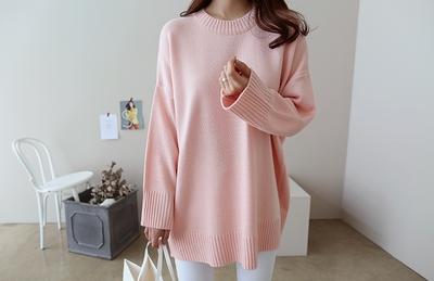 dailylook-纯色保暖魅力流行针织衫