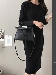 2018新款韩国服装dailylook品牌韩版宽松长款连衣裙(2018.1月)
