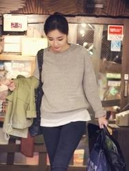 1区韩国代购正品验证ddaddadda-DAKN00764929-韩版混合色简洁圆领针织衫