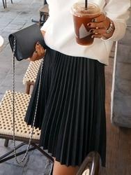 1区韩国代购正品验证ddaddadda-DASS00765999-韩版时尚风琴褶皮质短裙