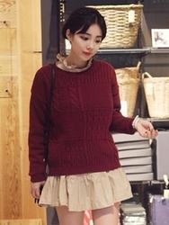 1区韩国代购正品验证ddaddadda-DAKN00765995-休闲可爱纯色百搭针织衫