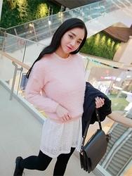 1区韩国代购正品验证ddaddadda-DAKN00831492-可爱纯色柔软圆领针织衫