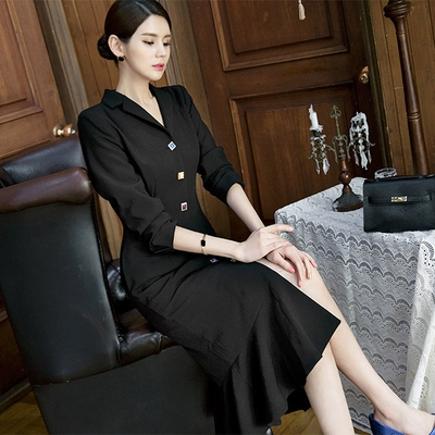 1区韩国本土服装代购(韩国圆通直发)dint-纯色新款韩版连衣裙(2018-04-20上架)