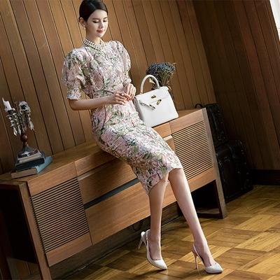1区韩国本土服装代购(韩国圆通直发)dint-韩版华丽新款连衣裙(2018-04-20上架)