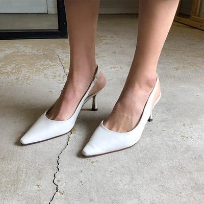 1区韩国本土服装代购(韩国圆通直发)Dodobling-纯色尖头时尚高跟鞋(2018-04-20上架)