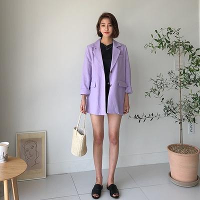 1区韩国本土服装代购(韩国圆通直发)Dodobling-纯色韩版新款夹克(2018-04-20上架)