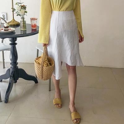 1区韩国本土服装代购(韩国圆通直发)Dodobling-流行新款纯色中裙(本商品非新品请联系客服核对再下单-27上架)
