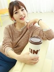 1区韩国代购正品验证dodo-DDKN00755902-时尚百搭韩国新款针织衫