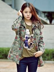 1区韩国代购正品验证jade-JDJK00756082-韩国新品花纹单排扣夹克