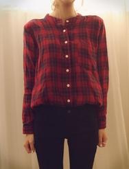 1区韩国代购正品验证jellpe-EPBL00765990-淑女魅力韩版格纹衬衫