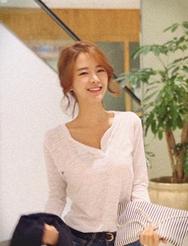 1区韩国代购正品验证jellpe-EPTS00765984-优雅魅力韩版纯色T恤