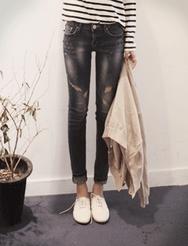 1区韩国代购正品验证jellpe-EPJN00765985-魅力韩版新款时尚牛仔裤