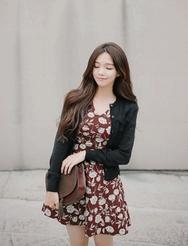 1区韩装网2016韩国服装货源|女装一件代发jellpe官网韩国时尚纯色短款开襟衫(2016.9)