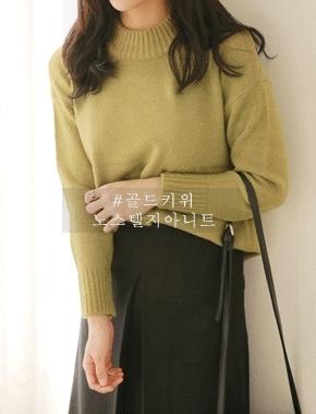 jellpe-简单韩版魅力纯色针织衫