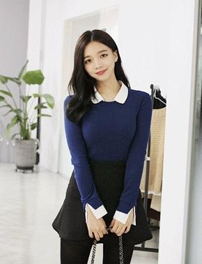 jellpe-简单韩版魅力时尚纯色T恤