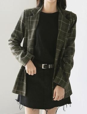 jellpe-气质魅力韩版个性格纹夹克