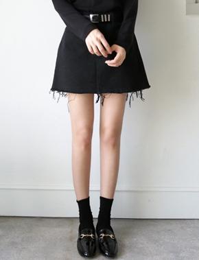 jellpe-简单韩版魅力纯色休闲短裙