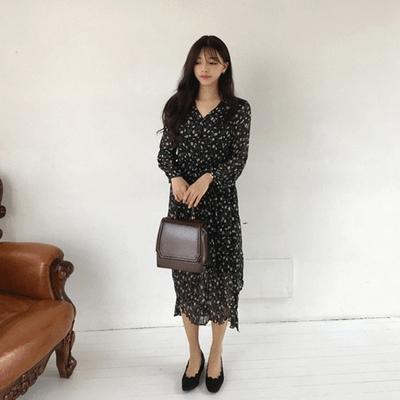 jellpe-时尚碎花连衣裙