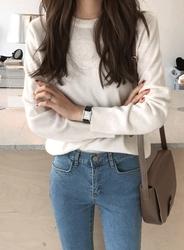 2018新款韩国服装jellpe品牌时尚舒适纯色针织衫(2018.1月)