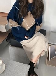 2018新款韩国服装jellpe品牌时尚百搭配色针织衫(2018.1月)