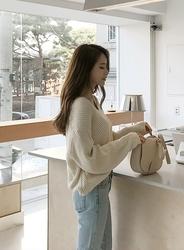 2018新款韩国服装jellpe品牌休闲舒适纯色宽松针织衫(2018.1月)