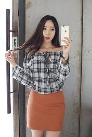 1区韩装网2016韩国服装|韩国代购服装一件代发货源22xx官网韩国时尚系带条纹衬衫(2016.8)