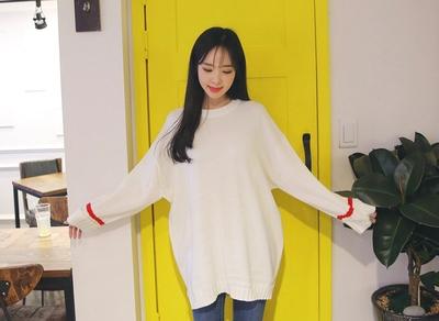 22xx-休闲宽松配色针织衫