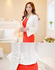 1区韩国代购正品验证estherstyle-ESJK00756107-时尚魅力韩版纯色夹克