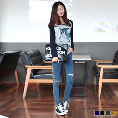 빅토리아 가르손느-크리스탈 아이즈 부엉이 나그랑 티셔츠