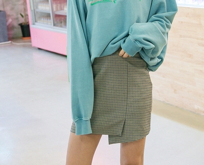 goroke-时尚有品位格纹迷你裙