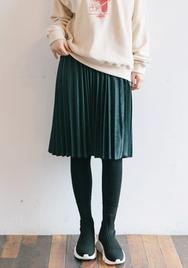 1区2017冬季新款韩国服装goroke品牌秋季魅力纯色中裙(2017.11月)