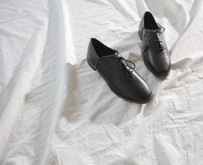 1区韩国本土服装代购(韩国圆通直发)goroke-休闲舒适纯色系带平底鞋(2018-04-20上架)