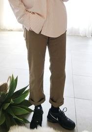 2018新款韩国服装goroke品牌休闲舒适纯色直筒长裤(2018.1月)