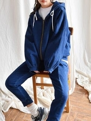 2018新款韩国服装goroke品牌休闲舒适纯色套装(外套+裤子)(2018.1月)