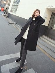 1区韩国代购正品验证heizle-HZCT00831201-大方魅力韩版纯色大衣