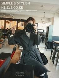 1区韩国代购正品验证heizle-HZCT00831205-时尚魅力韩版新款大衣