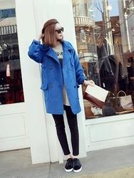 1区韩国代购正品验证heizle-HZCT00831202-流行魅力韩版纯色大衣