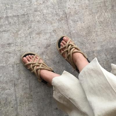 1区韩国本土服装代购(韩国圆通直发)hellopeco-韩版休闲风格凉鞋(2018-07-09上架)