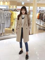 2018新款韩国服装hellopeco品牌时尚流行长款夹克(2018.1月)