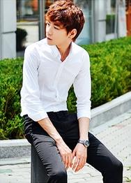1区韩国服装网店代理一件代发hotboom-HBBL00916091-修身帅气商务休闲衬衫