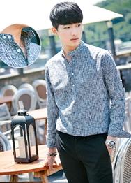 1区韩国服装网店代理一件代发hotboom-HBBL00920243-帅气修身都市魅力衬衫
