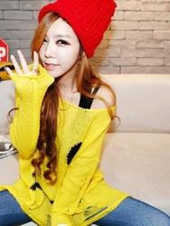 1区韩国代购正品验证iampretty-PTKN00756054-甜美舒适笑脸印花针织衫