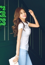1区韩国代购货源|韩国官网正品iampretty-PTTS00904830-口袋装饰简约修身短袖T恤