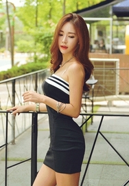 1区韩国代购货源|韩国官网正品iampretty-PTNY00904833-裹胸款修身性感连衣裙