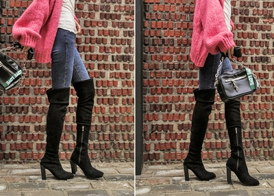 1区韩国本土服装代购(韩国圆通直发)iampretty-韩版时尚长款靴子(2018-04-14上架)