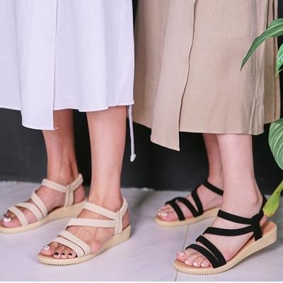 1区韩国本土服装代购(韩国圆通直发)icecream12-休闲舒适配色凉鞋(2018-07-09上架)